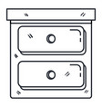 bedroom drawer isolated icon vector image vector image
