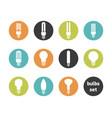 bulbs icon set vector image