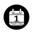 calendar of april fools day icon design vector image