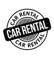 car rental rubber stamp vector image vector image