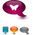 Cartoon butterfly speech icons vector | Price: 1 Credit (USD $1)