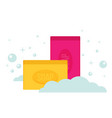 cartoon flat style rectangular soap icon vector image vector image