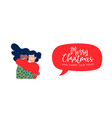 christmas and new year girl friends hug web banner vector image vector image