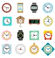 Clock icons set in isometric 3d style vector image vector image