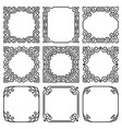 collection of square frames in oriental style vector image