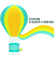 Colorful hot air balloon on a white background vector image vector image