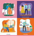 creative people 2x2 concept vector image vector image