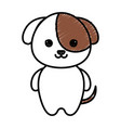 cute and tender dog kawaii style vector image