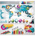 design set infographic elements vector image vector image