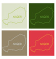detailed of a map of niger with flag eps10 vector image vector image