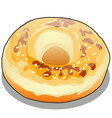 donut with colorful glaze isolated on white vector image