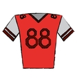 drawing red jersey player american football vector image vector image