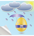 Easter egg with umbrella vector | Price: 1 Credit (USD $1)