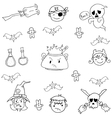 Element costume halloween in doodle vector image vector image