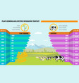 farming and agriculture concept infographic with vector image vector image