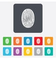 Fingerprint sign icon Identification symbol vector image