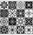 finnish inspired seamless folk art pattern in blac vector image vector image