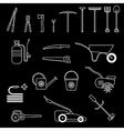 garden tools set black vector image