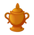 gold vase icon cartoon style vector image
