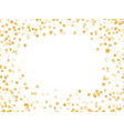 golden stars confetti background vector image vector image