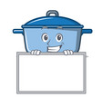 grinning with board kitchen character cartoon vector image vector image
