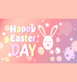 happy easter day colorful decoration poster design vector image vector image