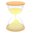 Hourglass icon in cartoon style vector image vector image