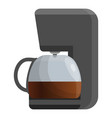 house coffee maker icon cartoon style vector image