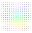 human footprint shape halftone spectrum pattern vector image vector image