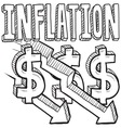 Inflation vector image vector image