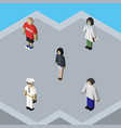 isometric person set of guy male girl and other vector image