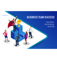 isometric winner business and achievement concept vector image vector image