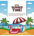its summer time poster vector image vector image