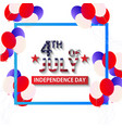 julu 4 th independence day united state america vector image