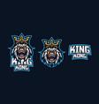 kingkong esport gaming mascot logo template for vector image