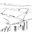landscape hand drawn vector image vector image