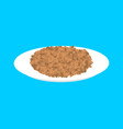 lentil cereal in plate isolated healthy food for vector image