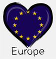 Love Europe flag vector image