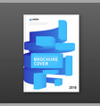 modern abstarct geomtric colorful brochure cover vector image