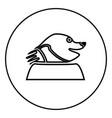mole icon for garden craftin circle outline vector image vector image