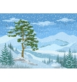 Mountain Winter Landscape vector image vector image