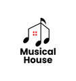 music house home course training logo icon vector image vector image