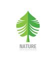 nature green leaf logo design vector image vector image