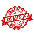new mexico round ribbon seal vector image vector image