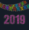 new year festive background 2019 vector image