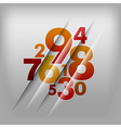 numbers red vector image vector image