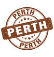 perth brown grunge round vintage rubber stamp vector image vector image