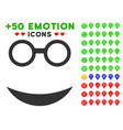 professor smile icon with bonus emoticon vector image vector image