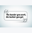 quote about work vector image