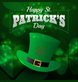 realistic st patricks day greeting card vector image vector image